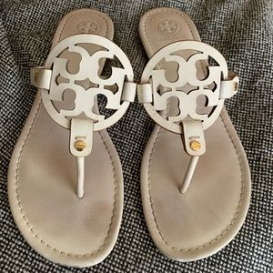 White Leather Tory Burch Miller's